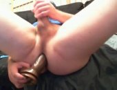 young jock fills his as with a toy