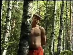 Hairy ass fucked in woods