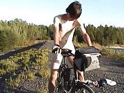 Cycling with buttplug in ass
